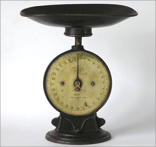 Antique Kitchen Scale: Salter's Improved Family Scale No. 50, C. 1900