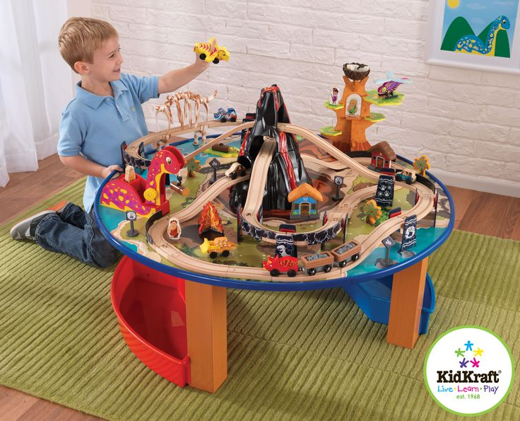 Toy Train - Kid Kraft Dino Train Set and Table From Vistastores