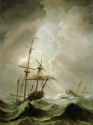 Storm at Sea  Willem van de, the Younger Velde