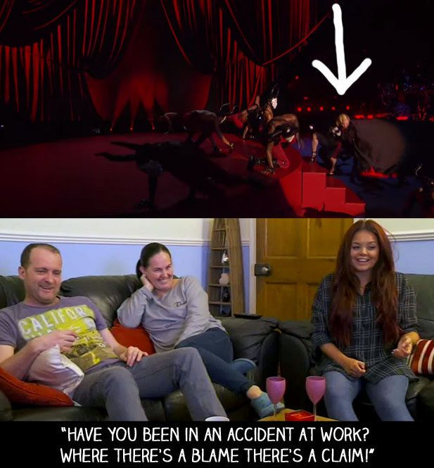 """When Madonna blamed her cape for her fall at the Brits. 