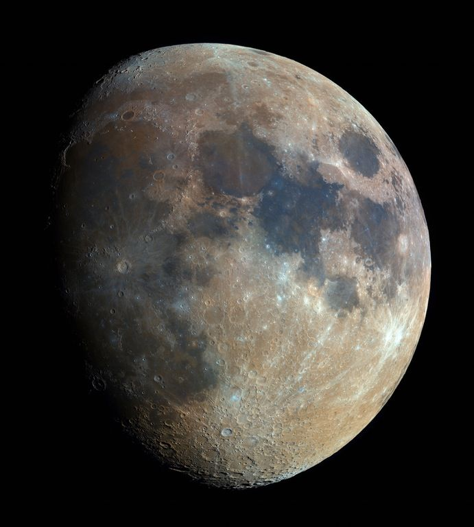 High resolution picture of the moon. : space