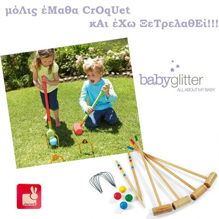 Παιχνίδια για τον κήπο από το babyglitter.gr . http://babyglitter.gr/2161-paidiko-paixnidi-croquet.html