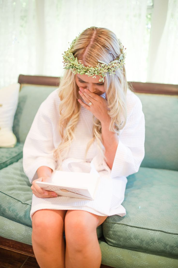 Austin Wedding | Pecan Springs Ranch Austin | Floral Crown | Lace Wedding Dress | Austin Wedding Venue | White Bridal Getting Ready Robe | The Lees Photography | Wedding and Engagement Photography | Austin, Texas