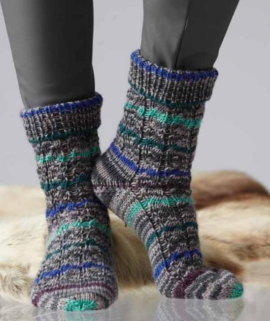 Iglu Color Socken Gratisanleitung