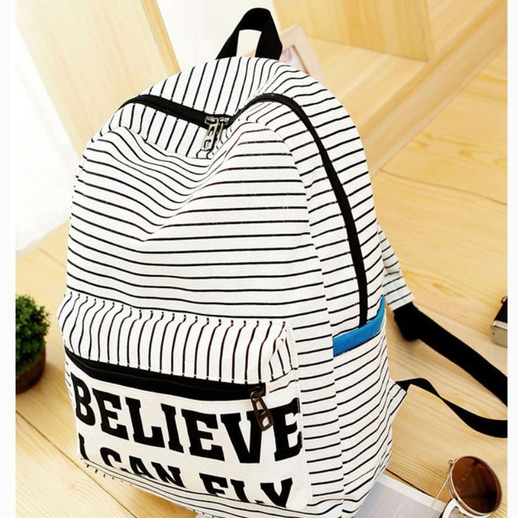 Women Backpack for teenage girls Handmade Vintage Rucksack Striped notebook female School laptop, super cute backpack for college and perfect for travel.