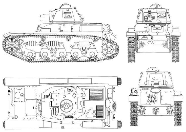 Renault R35 blueprint