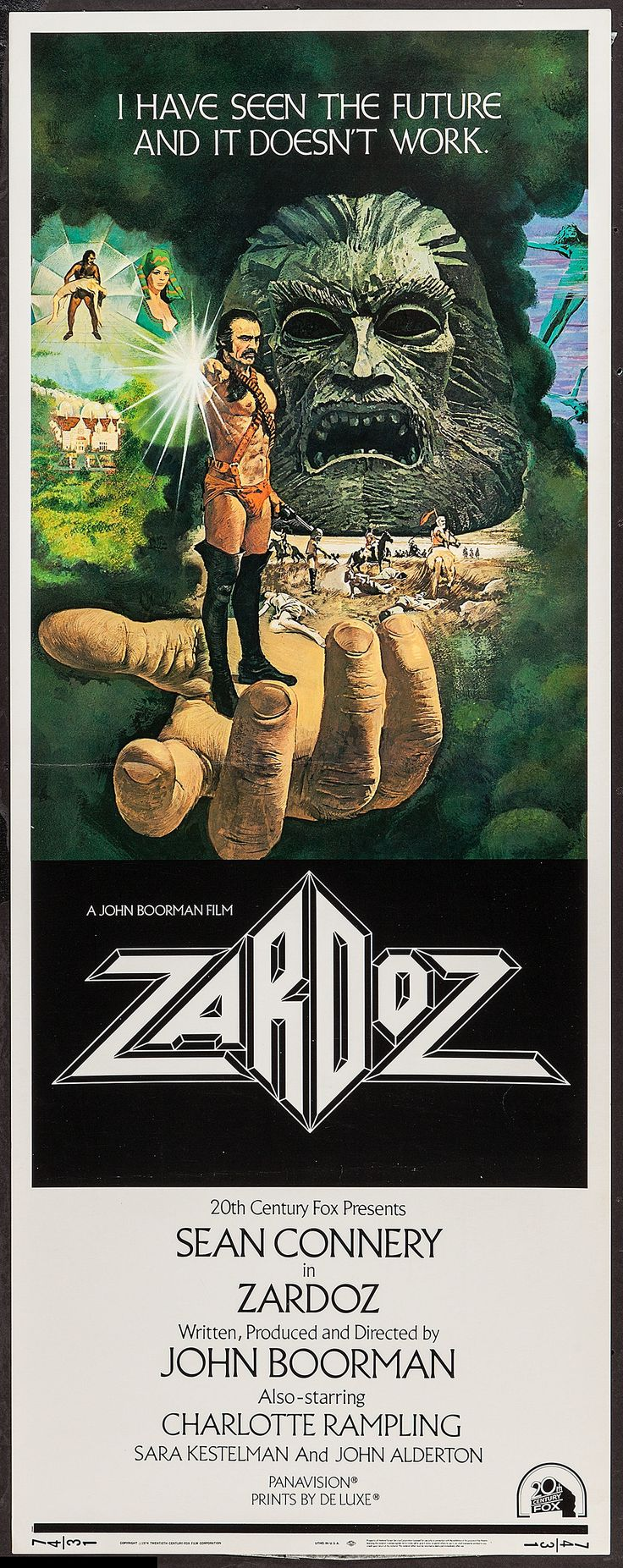 Zardoz, 1974 Pretty sure we need to find this movie...