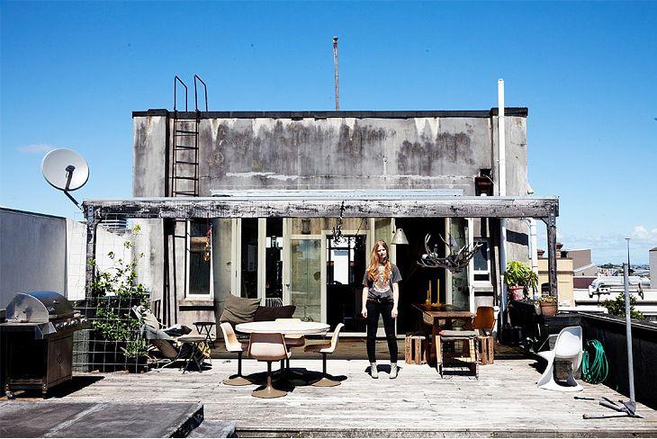 nice rooftop: Rooftops Patio, Charlotte Rust, Roof Deck, Roof Terraces, Vintage Stores, Outdoor Spaces, Roof Gardens, New Zealand, Rooftops Decks