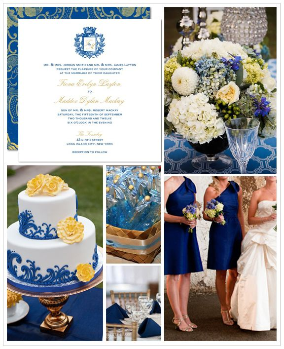 royal blue wedding- I like this in place of navy, which is too dark, and pastel/sky blue, which I can't see my friends wanting to wear XD
