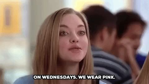 New party member! Tags: mean girls amanda seyfried mean girls movie humpday hump day karen smith wednesdays on wednesdays we wear pink