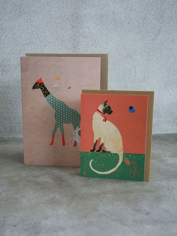 Siamese mini card by Lagom