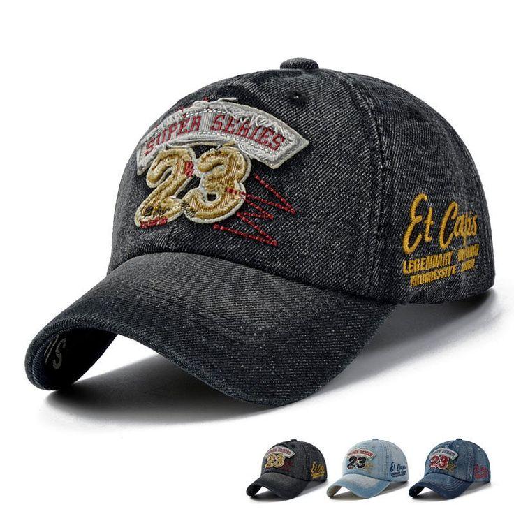 New Brand Men Baseball Caps Outdoor Casual Cap Denim Wash Sports Hats Women Letter Patch Jean Denim Cap Sun Caps - Prince Hats Collections