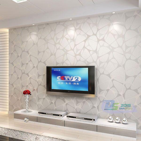 Modern Living Room Wallpaper Part - 30: Modern Non-woven Embossed Pattern Flocking Wallpaper Roll Bedroom TV  Background