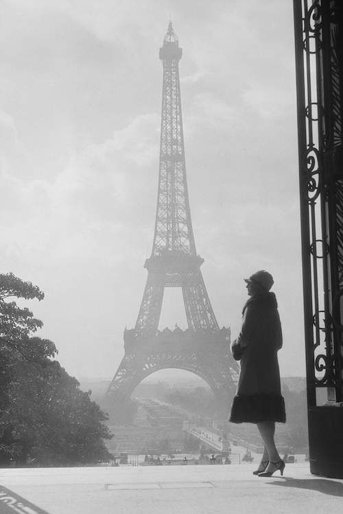 1920s Anonymous Silhouetted Woman Standing In… | Vintage Images