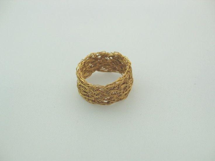Vergoldeter filigraner Ring - edel elegant gold von la-filigrana auf DaWanda.com