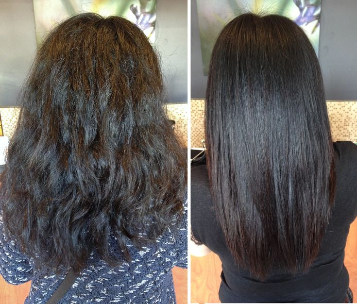 Keratin Before & After Permed hairstyles, Hair styles