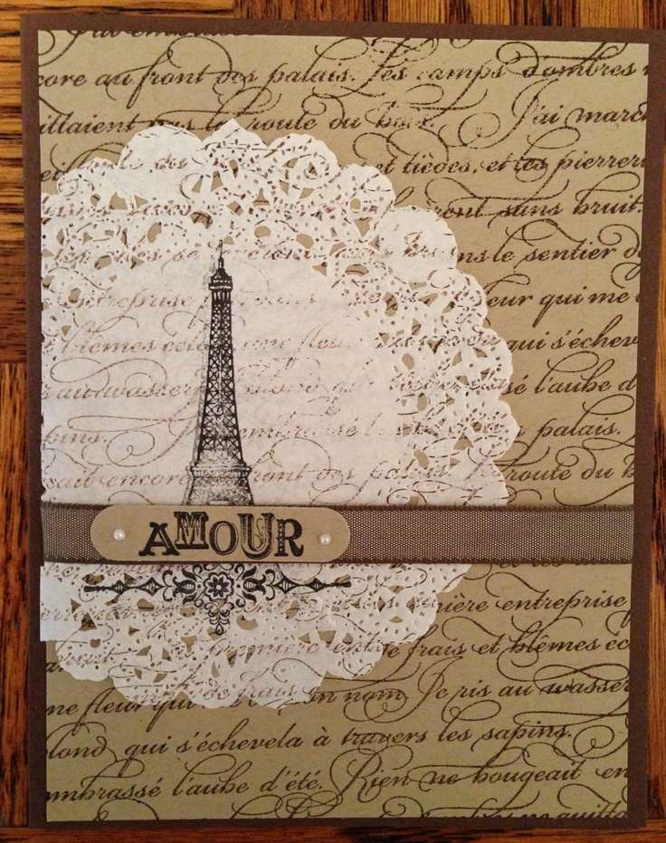 Artistic Etching and En Francais stamp sets from Stampin' Up!