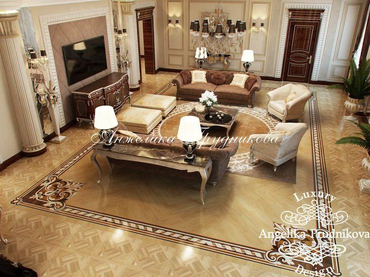 Дизайн интерьера гостиной в Грозном - классический стиль - фото