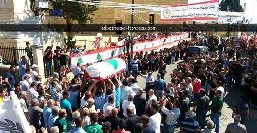 بالصور: رميش وعين ابل تستقبلان جثمان النقيب الشهيد سامر طانيوس | The Lebanese Forces Official Website