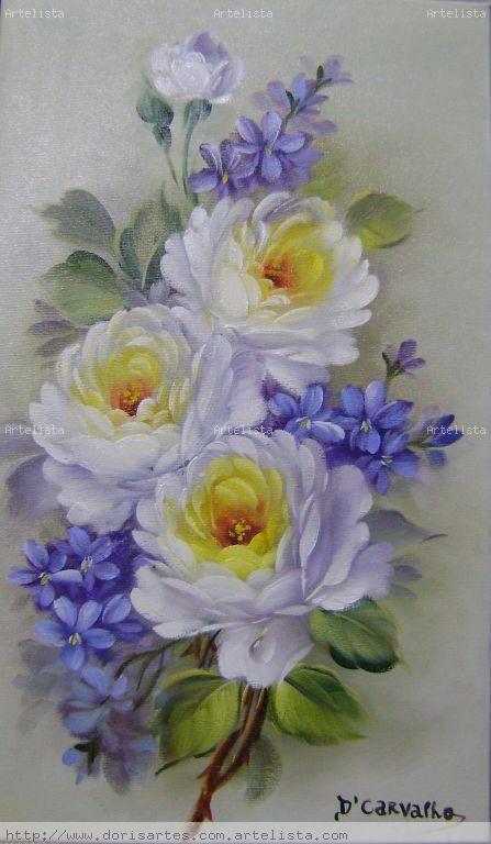 oleos de flores blancas - Buscar con Google