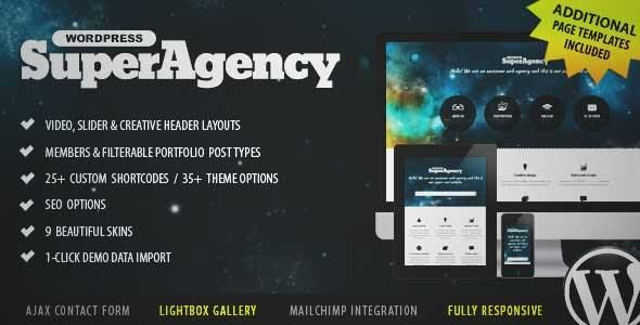 Download and review of Super Agency - Responsive WordPress Single Page, one of the best Themeforest Creatives themes