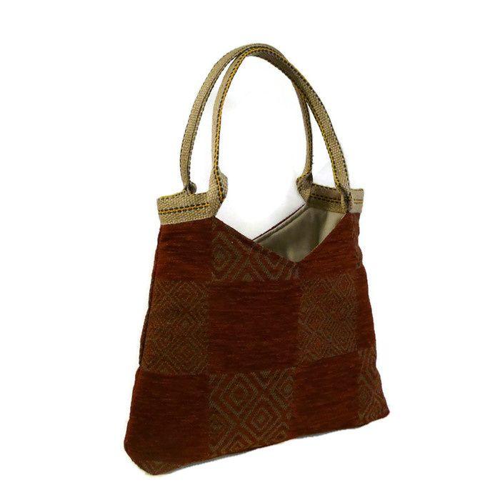 Grote handtas, schoudertas, herfstkleur