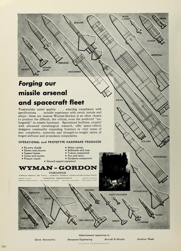 An interesting ad from the '62 edition for Wyman-Gordon