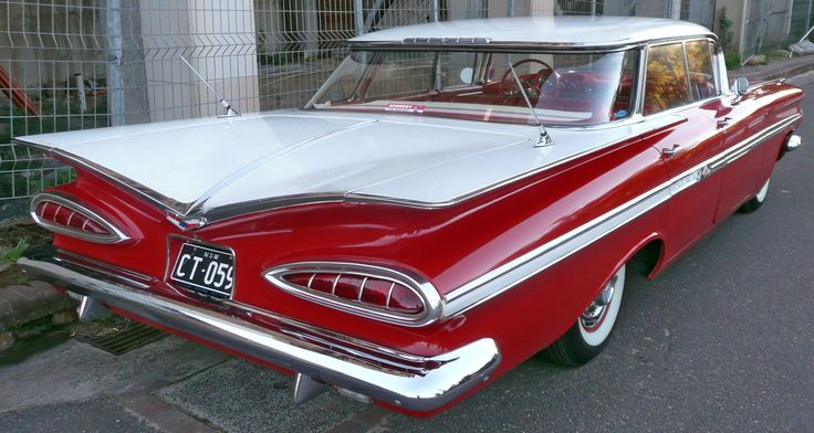 1959 Chevrolet Impala Sedan.....the first car I remember my parents owning.....ours was black.
