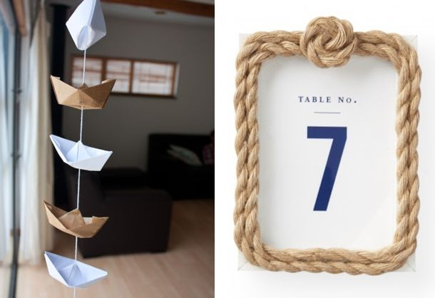 Nautical Wedding DIY Roundup - I think I like this idea better than the flowers...