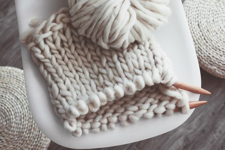 Chunky knit lap blanket, perfect for displaying or cuddling under during winter