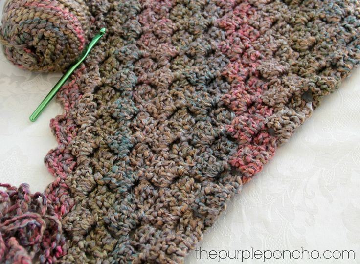 Crochet Corner-to-Corner Throw With Rope Edging By Carolyn - Free Crochet Pattern - (thepurpleponcho)