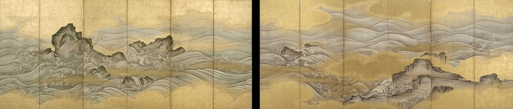 Waves | 17th century | Edo period | Ink, slight color, and gold on paper | Japan | Purchase | Freer Gallery of Art | F1969.22-23Art Nouveau, Art Museums, 17Th Century, Art Life, Edo Periodic, Freer, East File, Asian Art, Painting Japanese