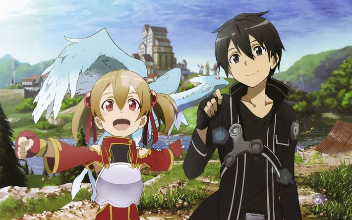 Download wallpapers Sword Art Online, novel, Characters, anime, SAO