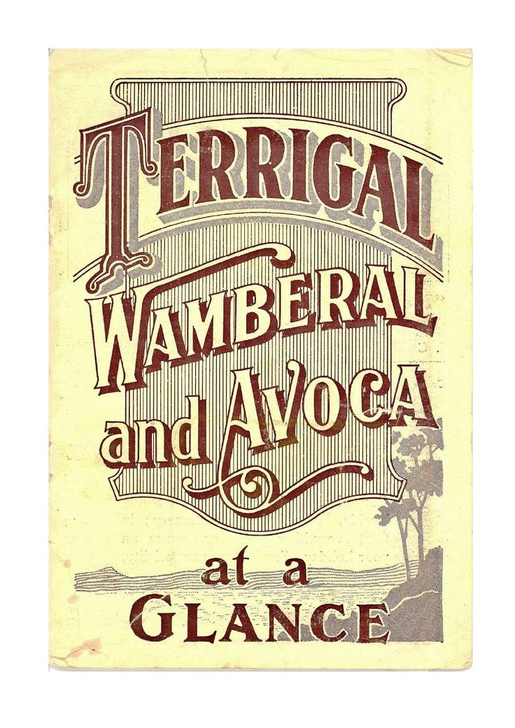 Terrigal, Wamberal and Avoca at a Glance (1924)  1920s tourist guide for the areas of Terrigal, Wamberal and Avoca Beach.
