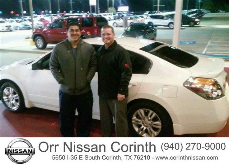 Congratulations to Pablo Maldonado on your #Nissan #Altima purchase from Jeffrey Miller at Orr Nissan! #NewCar