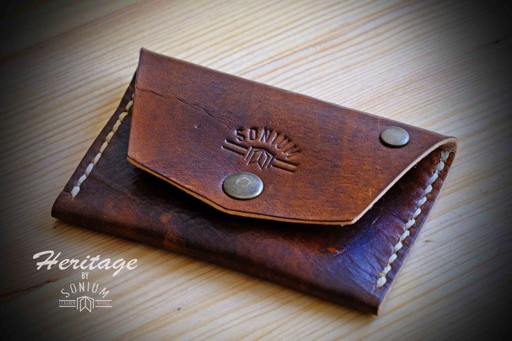"""SONIUM LEATHER"". Cards and coins Wallet. Just one made with Vintage style"