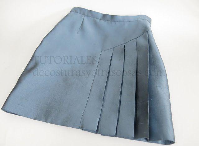 tutorial de costura falda asimétrica