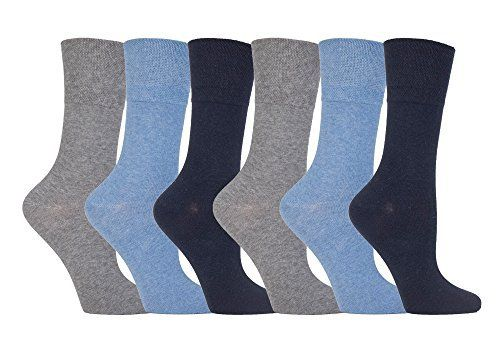 Gentle Grip - 6 Pairs of Ladies Diabetic Sock with Honey Comb Top and Hand linked Toe Seams - 4-8 UK 37-42 Eur The Gentle Grips Ladies Diabetic Sock   Gentle Grip Diabetic Socks – Developed to help the syptoms of oedama, lymphonedema, fluid retention and other size related conditions associated with swollen feet and ankles.   Honey Comb Top – Carefully Moulds to the natural contours of your leg leaving no nasty constriction rings.   Non Elastic – Helps avoi