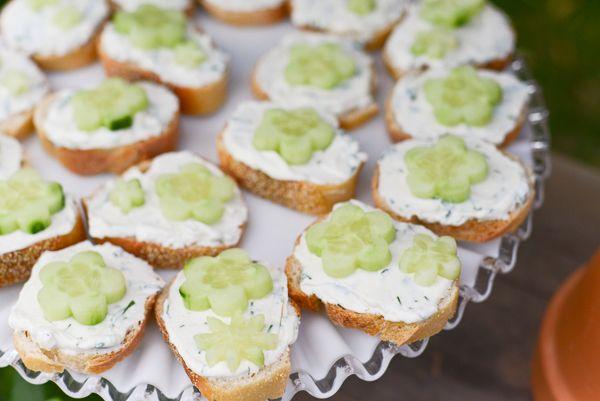 Simple Open Face Cucumber Tea Sandwiches | Tikkido.com