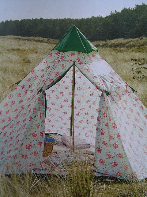 Cath kidston tent (not sure the boyfriend will agree with this one)