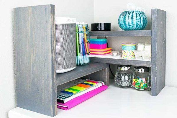 DIY Adjustable Desktop Organizer - The Handyman's Daughter