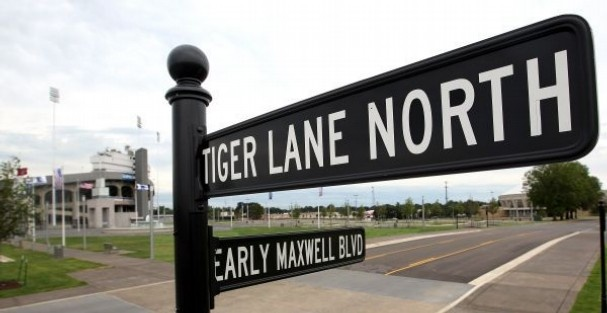 Tiger Lane - The new tailgating area for University of Memphis Tiger fans and fans of teams in the annual Liberty Bowl game on Dec. 31.
