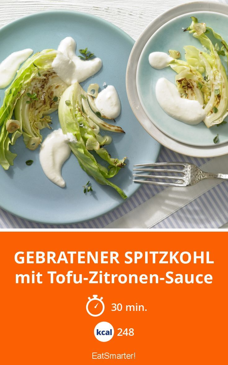 Gebratener Spitzkohl - mit Tofu-Zitronen-Sauce - smarter - Kalorien: 248 Kcal - Zeit: 30 Min. | eatsmarter.de
