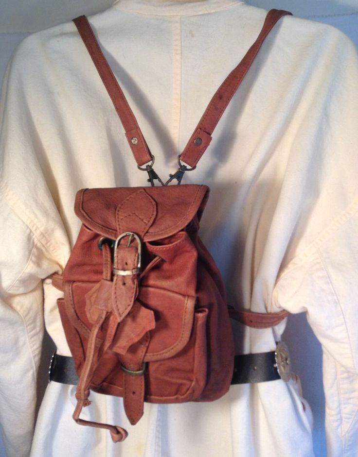 """Mini backpack,Brown leather backpack, Backpack bag, bag ,purse ,small  ,9"""" 5"""" 3"""" by crazygoodbananas on Etsy https://www.etsy.com/listing/158346700/mini-backpackbrown-leather-backpack"""