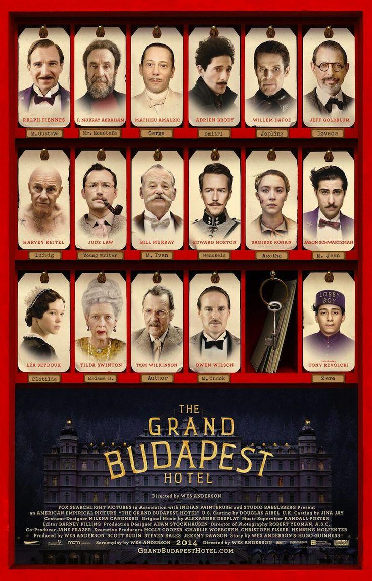 Une affiche interarctive pour The Grand Budapest Hotel de Wes Anderson. (Pendiente)