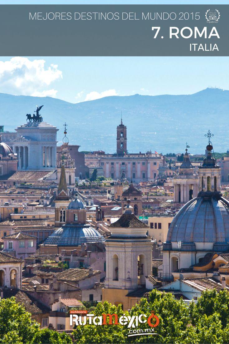 #Destinos El no.7 en la lista de mejores destinos del Mundo 2015 de #TripAdvisor es #Roma en #Italia, ciudad mítica que refleja un pasado glorioso. Los imperdibles: el #Coliseo, la #BasílicaDeSanPedro, la #FuenteDeTrevi, el #ForoRomano, los #museos del #Vaticano, la plaza #Venezia, entre muchos otros lugares fascinantes. www.rutamexico.com.mx