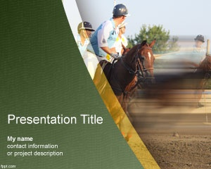 Polo PowerPoint Template - For Polo Sports fanatics or use this to make presentations to disseminate knowledge about this sport.