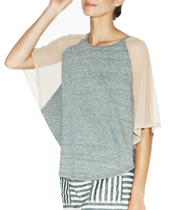 Sheer Sleeve Top - this would be cute tucked in a skirt