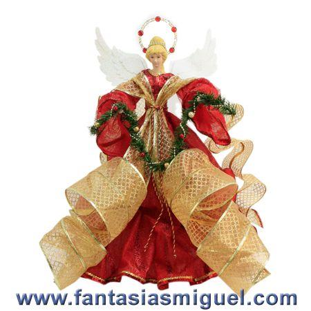 Ángel Rojo Oro Con Guía  - Como Hacer Manualidades - Fantasias Miguel