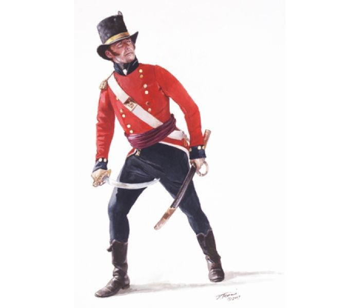 Officer of a Royal Marines, War of 1812.
